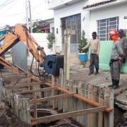 Trecho onde está sendo executada a obra permanece interditada até a conclusão dos serviços(Fotos: Ascom/Casal)