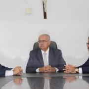 O governador em exercício estava acompanhado do ministro Humberto Martins . Ascom Arapiraca