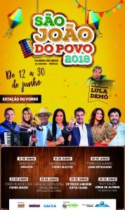 São João do Povo 2018 em Palmeira @ Praça do Skate | Palmeira dos Índios | Alagoas | Brasil