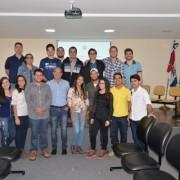 Turma do Ifal Palmeira dos Índios reunida com o engenheiro civil Adilson Ribeiro. Ascom Seinfra