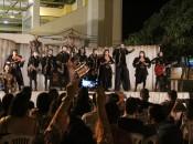 Com toque musical e bom humor, peça levou temas atuais para praça pública (Foto: Genival Silva)